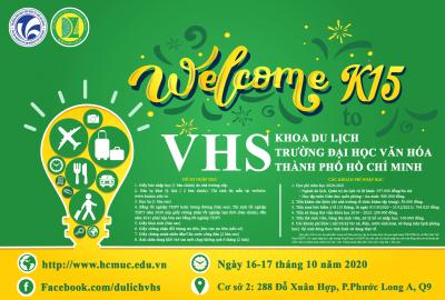 Chào đón các Tân sinh viên Khoa Du lịch Khóa 15 năm học 2020